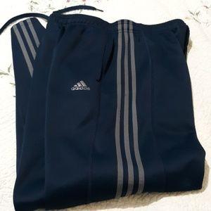 Adidas 3 stripe sweat pants mens large